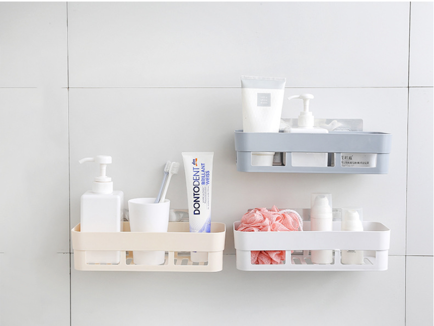 Wall Hanging Bathroom Organizer Made With Plastic Material For Bathroom And Kitchen Tool