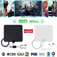 Крытый антенна ТВ цифровой HD ТВ антенны 150 миль 4 K HD ТВ антенны тдт VHF/UHF DVB-T/T2 ATSC ISDB ТВ Radius лиса телевизионная антенна