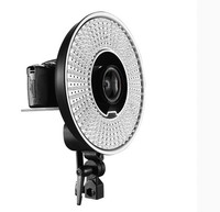 FALCON EYES 300 Ring LED Panel 5600K Lighting Video Film Continuous Light W/Camera Bracket/ filter