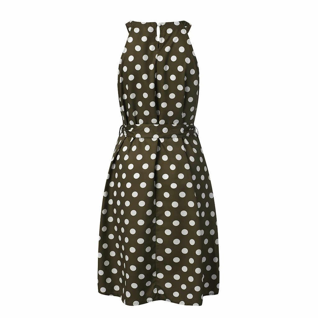 Licou asymétrique volants réservoir à pois robe femmes Sexy épaules nues printemps robe 2020 bohème plage robe dames robe d'été
