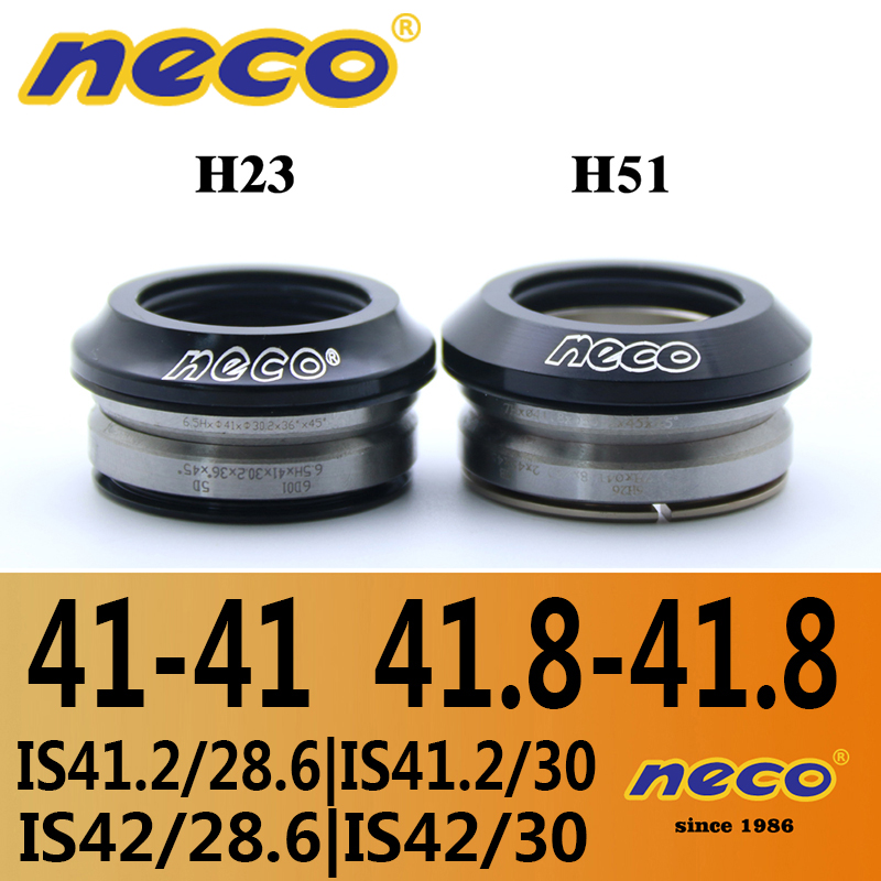 Neco Bike Headset 41 41.8 Mm IS41 IS42 IS41.8 Bearing Headset Integrated Headset Straight Head Tube Road Bike MTB
