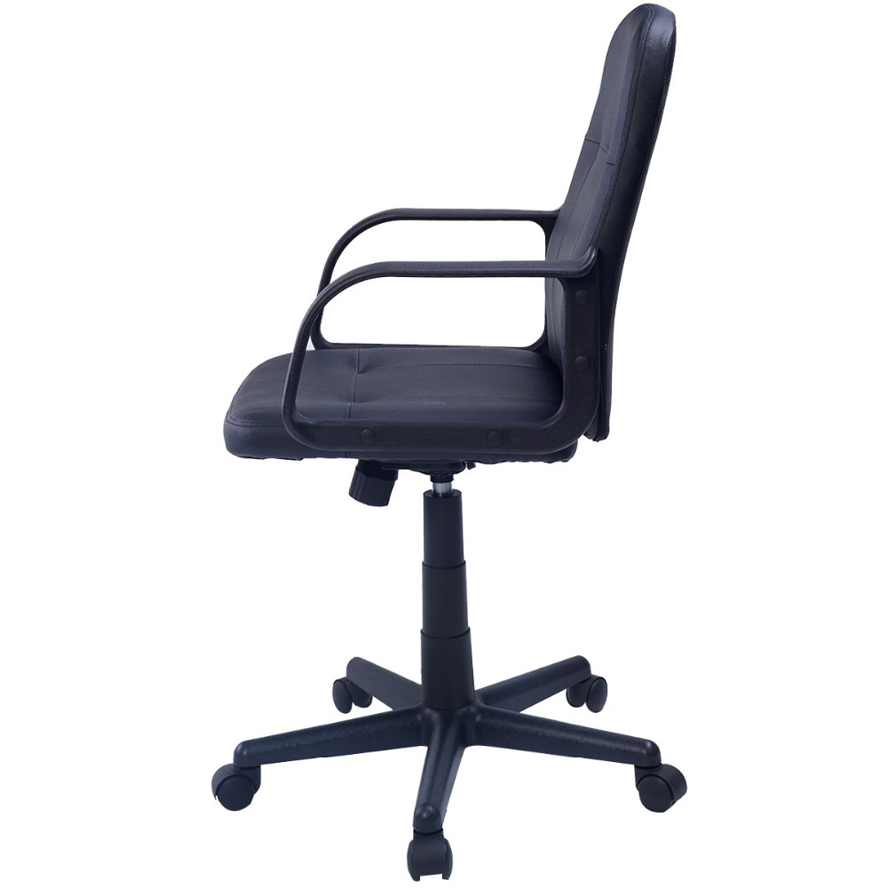 promotion black office swivel chair faux leather computer work desk