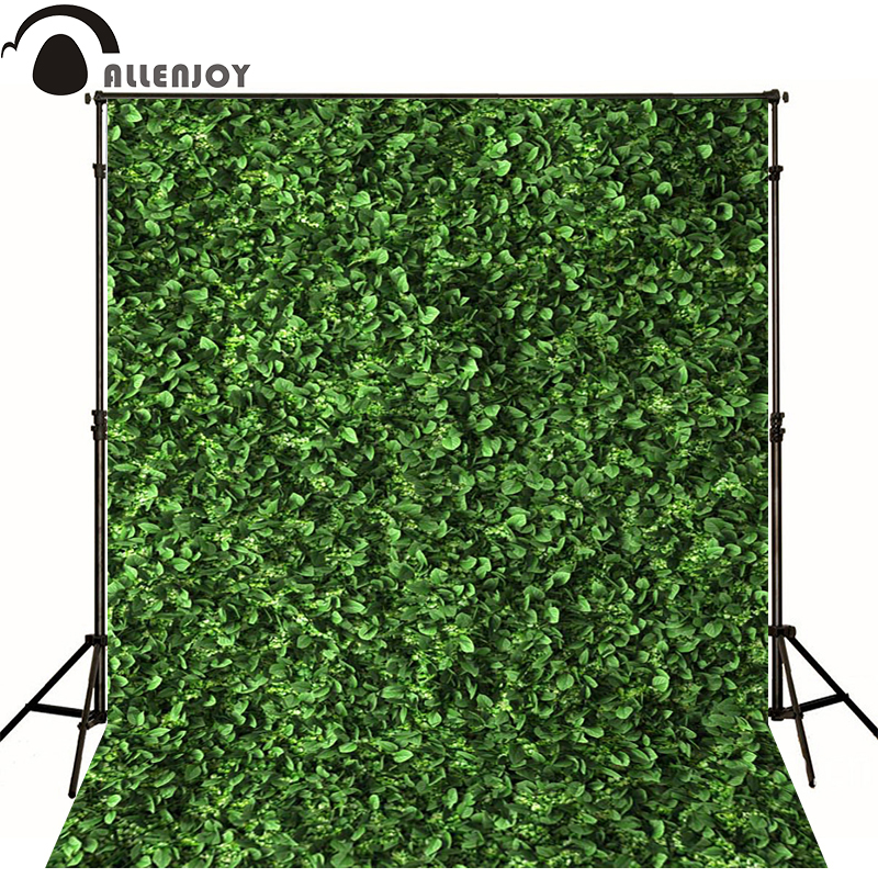 Allenjoy Photographic spring background Vine lawn leafy green screen newborn vinyl backdrops  photocall baby shower  wood