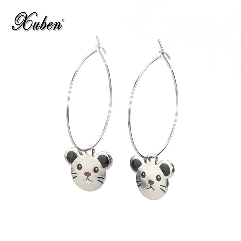 Big Stainless steel Circle Silver color Hoop Bling Jewelry Earrings Lovers Circle...