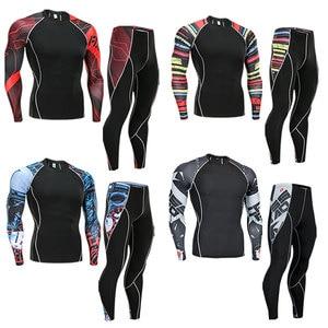 2018 Fitness MMA Running Shirt Men Rashguard Male Long Sleeve T Shirt Crossfit Bodybuilding Men Skull Print 3D T Shirt Tops(China)