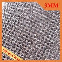 3mm Iron On Aluminium Rhinestone Mesh Sheet Sew On Crystal AB Rhinestone Sheet For Bag Clothing