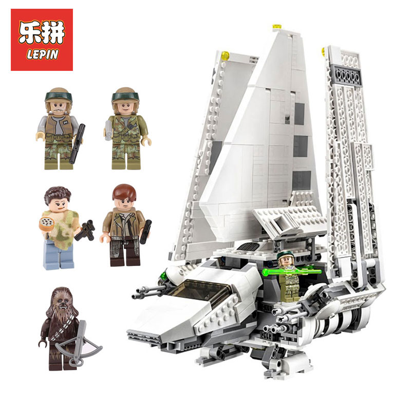 LEPIN 05057 937Pcs Star Wars Stunning SelfLocking Shuttle Tydirium model Building Blocks Bricks Assembled Toy LegoINGlys 75094 lepin 05034 star classic toy wars stunning the assemble shuttle building blocks bricks assembled toys compatible with 10212 gift