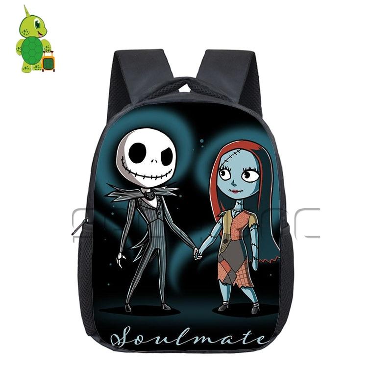 Christmas Backpack School-Bags Pumpkin-King Nightmare Toddler Anime Girls Kids Gift Kindergarten
