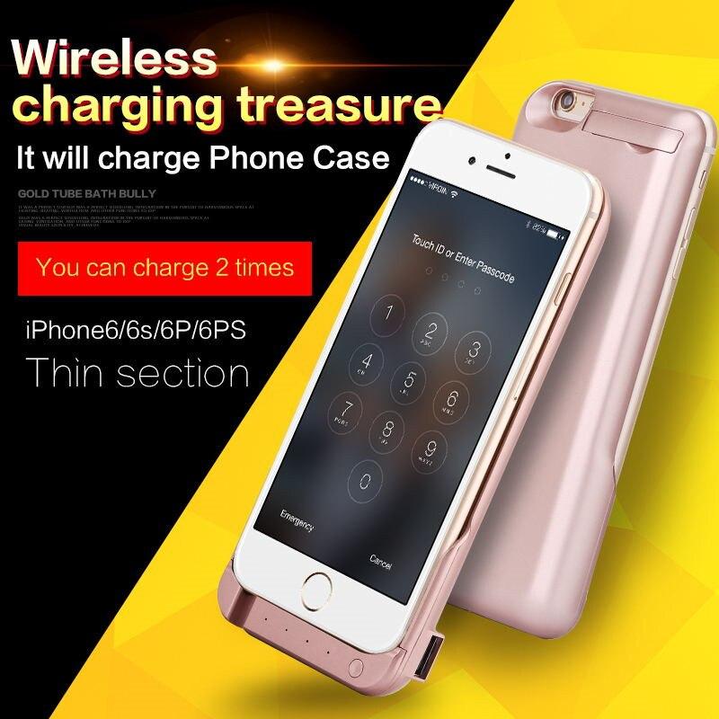 bilder für Neue ankunft! hohe qualität 10000 mAh Energienbank Externe Batterie-Backup Fall Abdeckung Für iPhone 6 plus 5,5 Zoll
