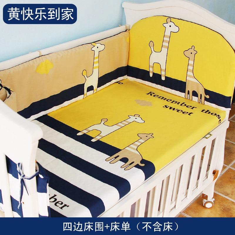 Новое поступление хлопок детские кроватки Постельное белье, новорожденных Детская кроватка Набор для Обувь для мальчиков и Обувь для девоч...