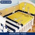 Neue Ankunft Baumwolle Baby Krippe Bettwäsche Set, Neugeborenen Babybett Set Für Jungen und Mädchen, baby Krippe Bett 4 stücke Stoßstangen + 1 stücke Bett blatt