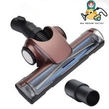 Boneca limpa 32mm/35mm universal aspirador de pó ar driven turbo cabeça da escova para piso duro tapete ferramenta acessório