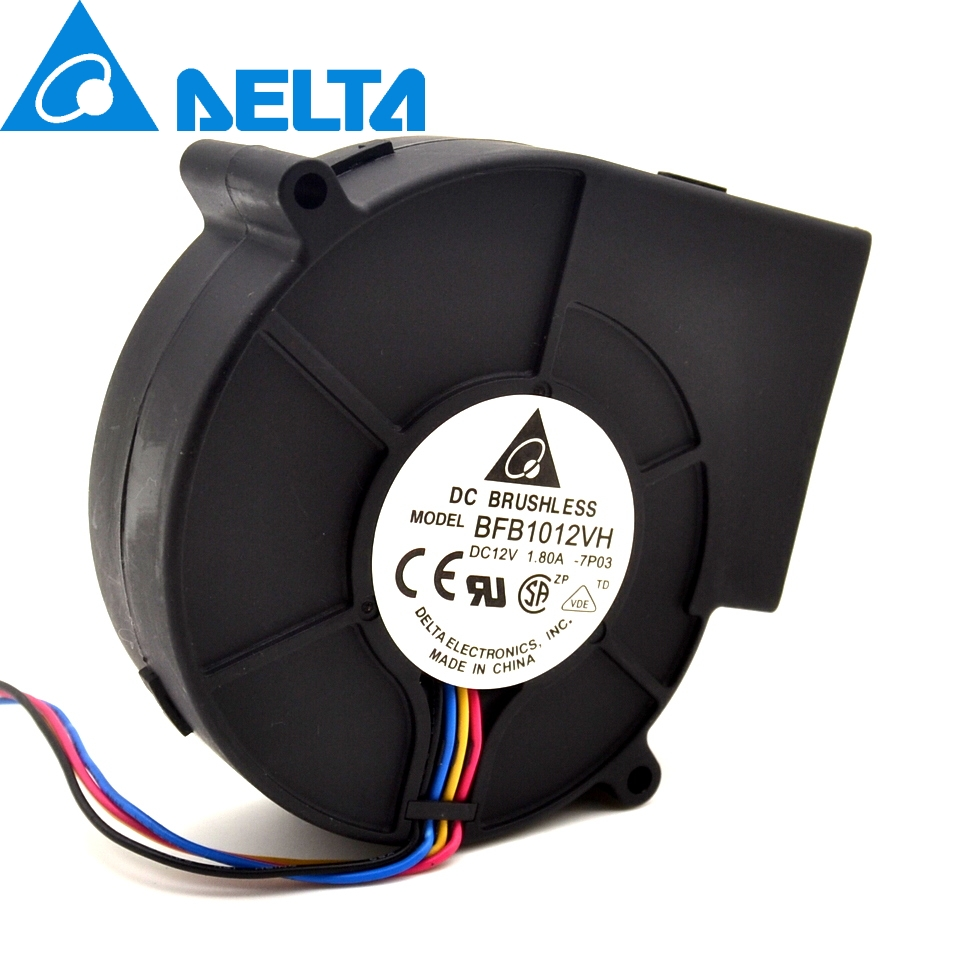 1pcs New 9733 turbo centrifugal fan blower BFB1012VH 12V 1.80A wind capacity 97*97*33mm