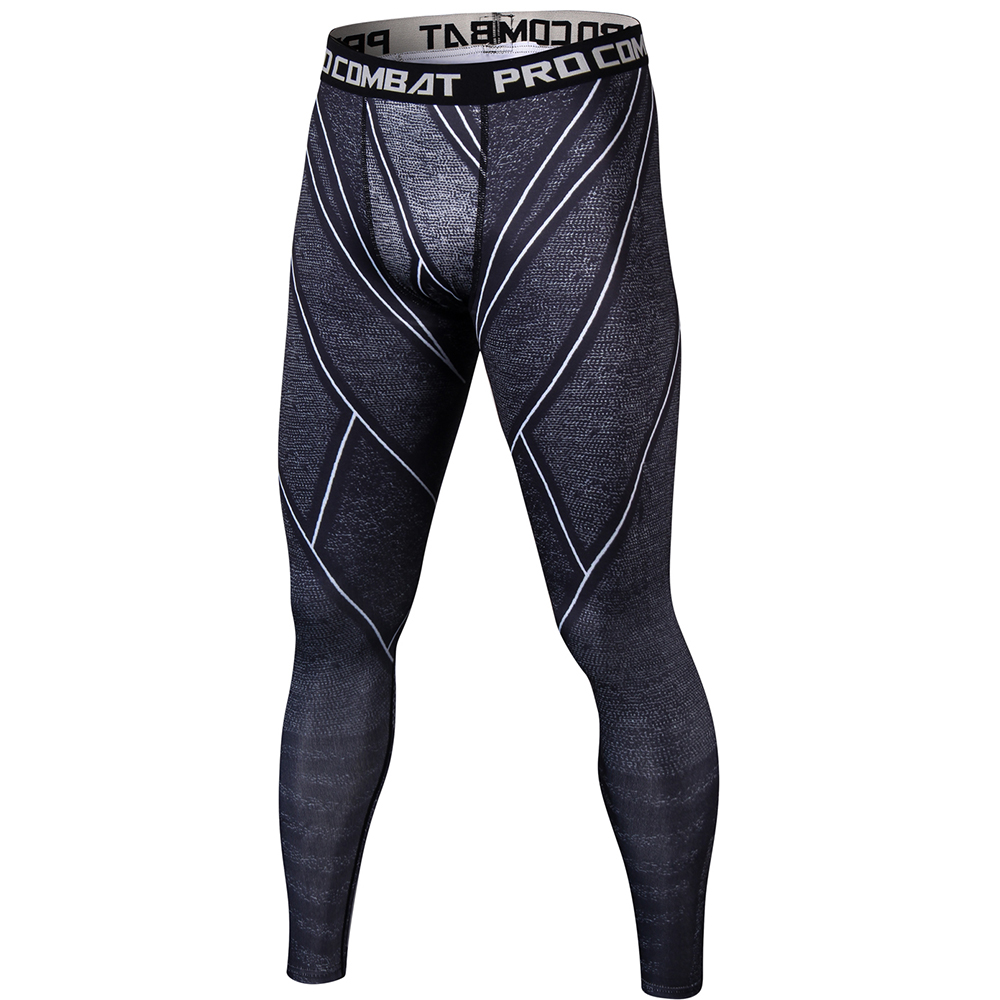 Flash 3D Printed Men Workout Fitness Compression Leggings Pants Bottom Crossfit Weight Lifting Bodybuilding Skin Tights Trousers