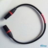 HIFI XLR Balanced Cable US original Belden Audio Professional Signal Cables Gold plated XLR Terminals 0.5 5m Black Free Shipping