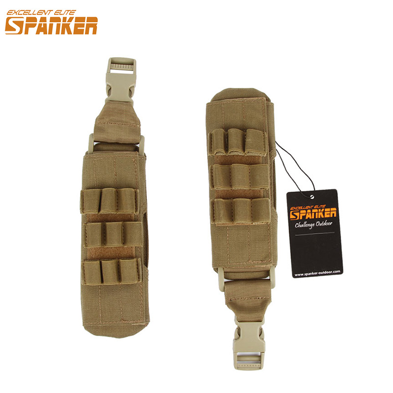 EXCELLENT ELITE SPANKER Outdoor Tactical Nylon Vest Magazine Shoulder Pad Hunting Vests Combat Military Camouflage Accessories excellent elite spanker military vertical id card credit card tactical holder two in one with adjustable