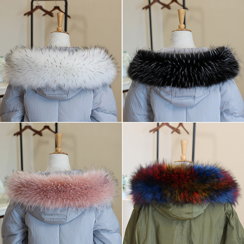 Ladies Women's Faux Fur Collar Scarf large size Fluffy Winter Shawl Wrap Scarfs coat collar Stole neck warmer 80cm 85cm 90 cm