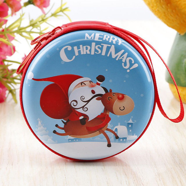 6efc9a1bd5 US $2.2 40% OFF|2018 New Style Fashion Print Women Kids Mini Round Cartoon  Zip Coin Purses Christmas Clutch Bag Hot-in Coin Purses from Luggage & Bags  ...