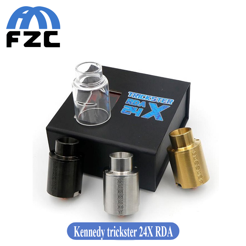 High Quality Kennedy Trickster X 24mm RDA Atomizer Rebuildable Dripping font b Vape b font Tank