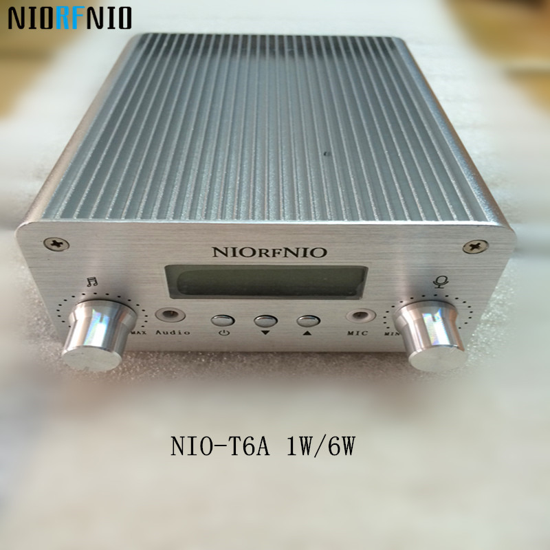 Free Shipping NIO-T6A 1W/6W Transmissor FM PLL Stereo Radio Equipment 76MHz to 108MHz free shipping nio t6t 6w professional pll transmissor fm tf card maximum supported 128g