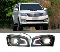 Car Daytime running light 12V LED DC DRL For Toyota Toyota FORTUNER 2012-14 Fog light 2pcs