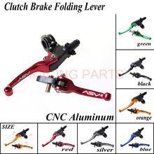 цена на Aluminum Clutch and Brake Folding Lever For Most Of Motorcycle Dirt Pit Bike Motorcross CRF KLX YZF RMZ Free Shipping