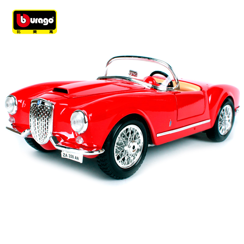 Maisto Bburago 1:18 1955 Lancia Aurelia B24 Spider Retro Classic Car Diecast Model Car Toy New In Box Free Shipping 12048 maisto bburago 1 18 1959 jaguar mark 2 ii diecast model car toy new in box free shipping