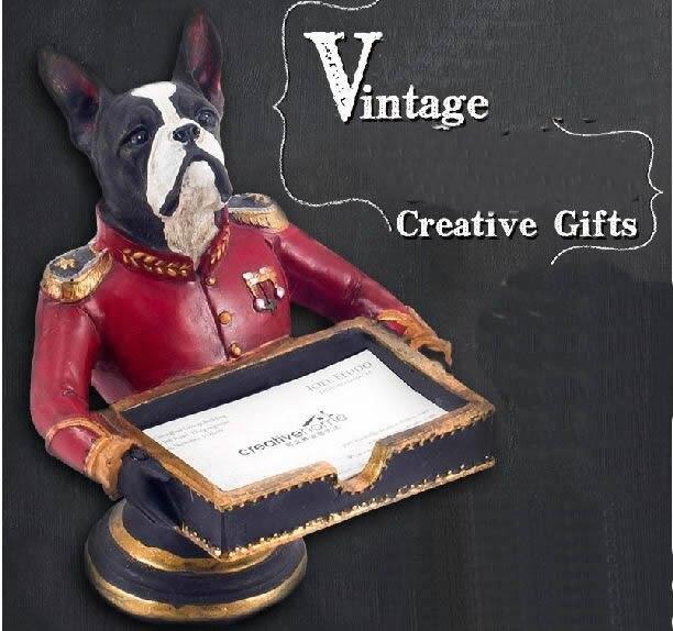 Creative resin business card storage rack card holder note holder creative resin business card storage rack card holder note holder poodles cute animal dog home storage colourmoves