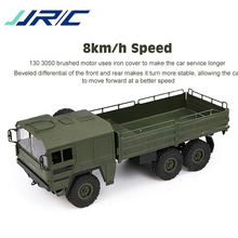 цена на Original JJRC Q64 RC Car 1/16 2.4G 6WD Military Truck Off-road Rock Crawler Toy 6 Wheels Racing Toys For Children Kids Gifts