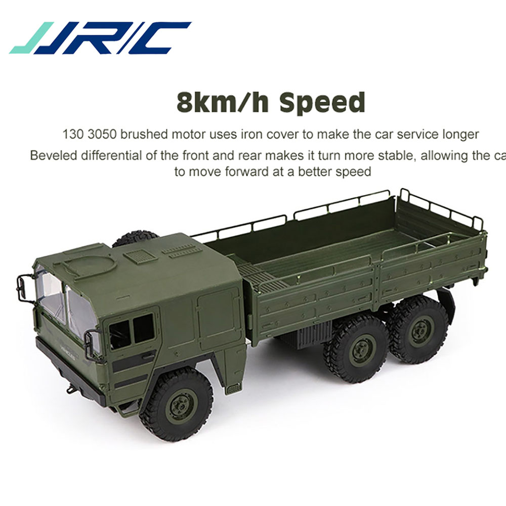 Original JJRC Q64 RC coche 1/16 2,4G 6WD Camión Militar todoterreno Rock juguete rastreador 6 ruedas juguetes de carreras para niños regalos