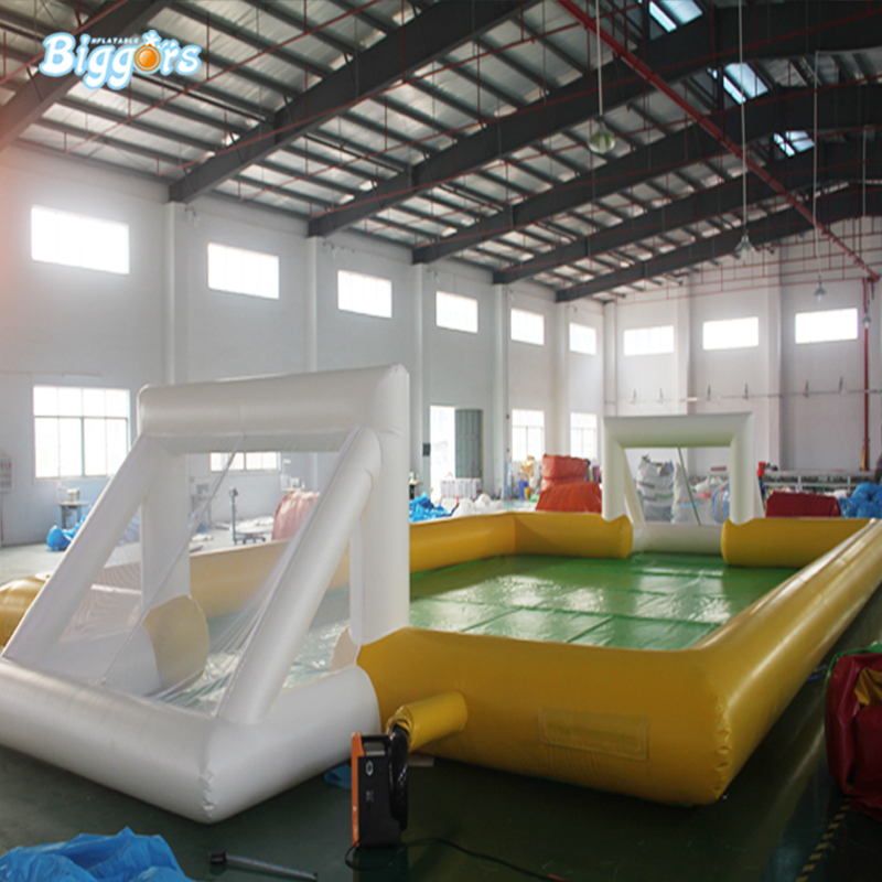 New Inflatable Water Soap Football Field Soccer Field For Sale cheap portable small inflatable water soccer football field for kids