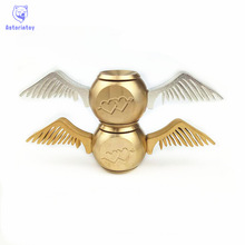 Brass Cupid Golden Snitch Fidget Spinner Harry Potter Fans Hand Spinner Harry Potter EDC Autism&ADHD Anti Stress Spinner Toy