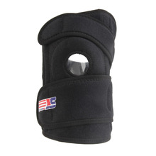 ShuoXin SX612 Durable Sports Adjustable 4-spring Support Brace Cap Leg Knee Wrap Protective Pad Black free shipping