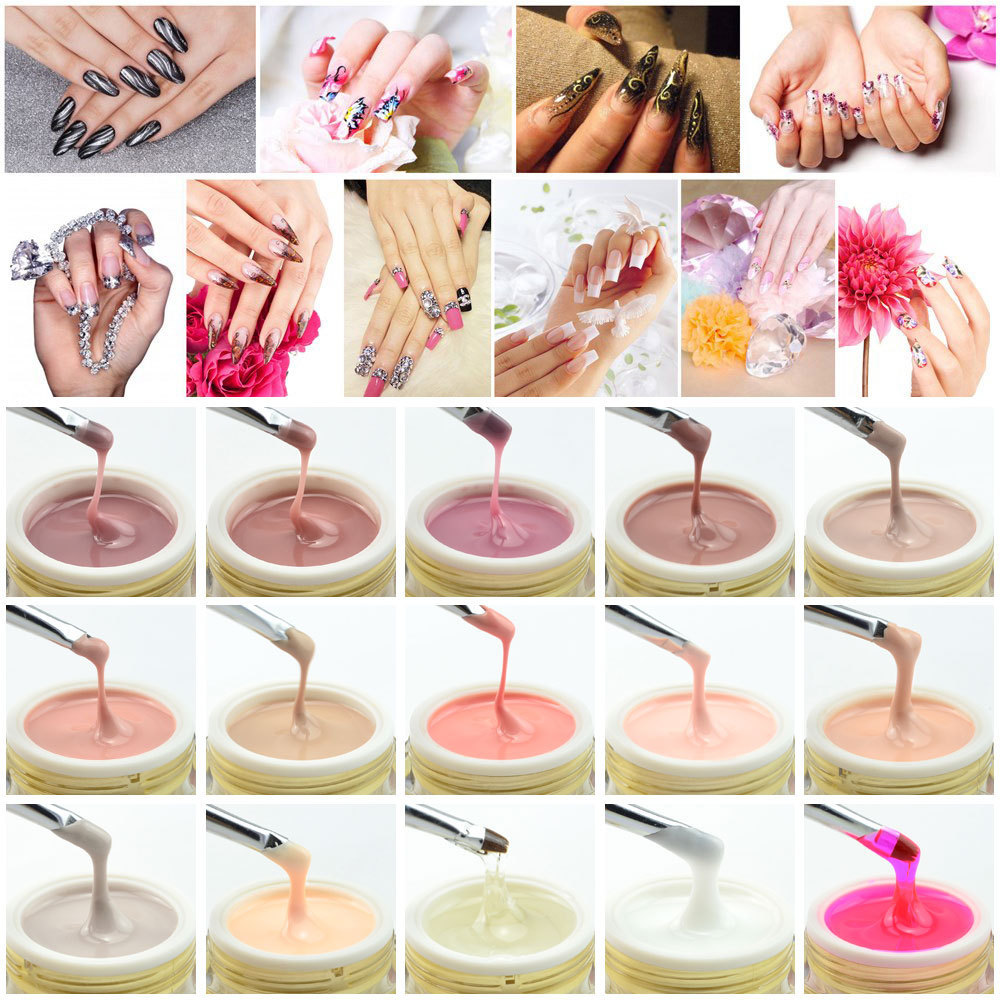 1pc Canni Nail Gel Professional 15 Color Uv Builder Camouflage Jelly