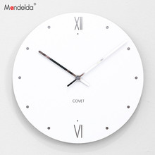 Mandelda creative living room wall clock watch modern minimalist fashion hanging round rural household mute
