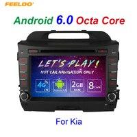 FEELDO 8 Android 6,0 (64bit) DDR3 2 г/32 г/4 г LTE Octa Core автомобильный DVD gps радио головное устройство для Kia sportage/Sportage R (2010 ~ 2015)