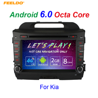 FEELDO 8 Android 6.0 (64bit) DDR3 2G/32G/4G LTE Octa Core Car DVD GPS Radio Head Unit For Kia Sportage/Sportage R(2010~2015)