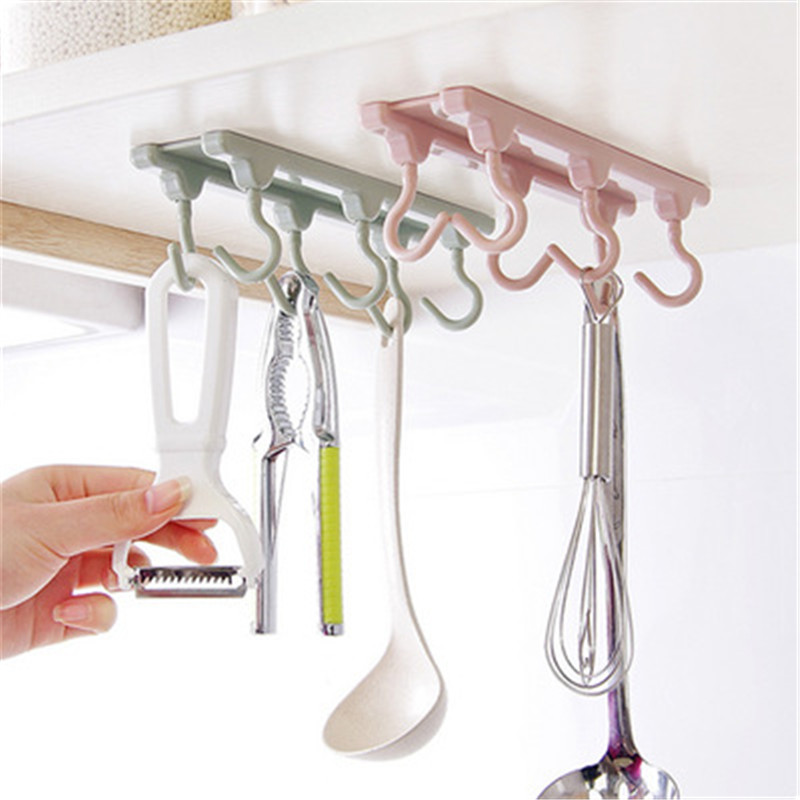 Kitchen cabinets, tea storage racks, 6 hanging kitchen accessories, gadgets, storage racks, strong hooks, kitchen supplies.Q