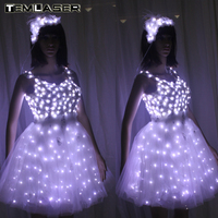 New Arrival Bride Light Up Luminous Clothes LED Costume Ballet Tutu Led Dresses For Dancing Skirts Wedding Party
