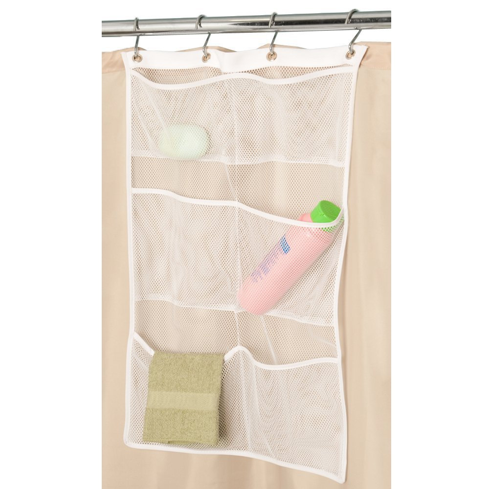 6 pockets shower Caddy organizer mesh bath hanging organizer Quick Dry Durable Washable Bathroom sundries storage organizer bag