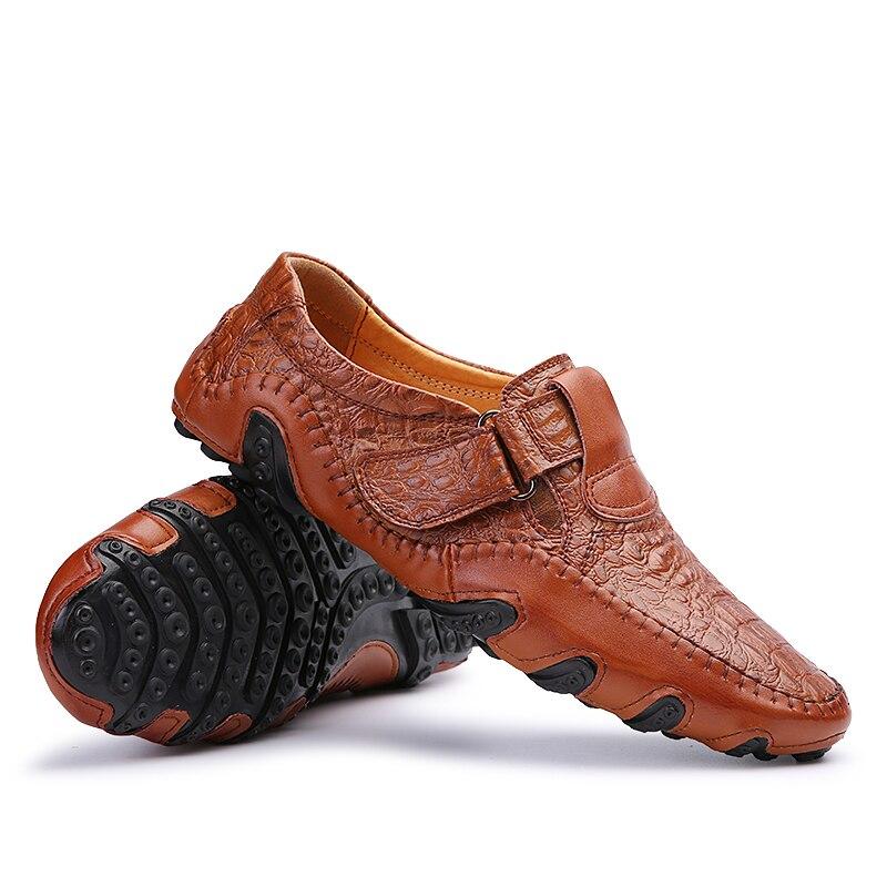 Zapatos de los hombres Planos del Cuero Geunuine Masculinos Zapatos Suaves Cómod