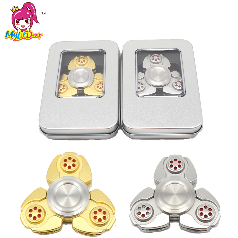 10pcs/lot EDC Hand Spinner Fidget Spinner Anti Stress Focus Toy Aluminum Hand Spinner with Steel Bearing Hand Spinner for ADHD 7 colors lighting funny toy abs plastic edc hand spinner for autism and adhd rotation long time stress relief toys