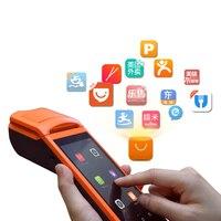 Android5.1 мобильный 1D сканер штрих кода ручной термопринтер pos терминал bluetooth, Wi Fi Android прочный КПК 3g V1