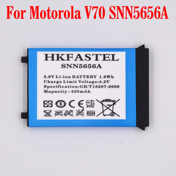 HKFASTEL New SNN5656A Li-ion Mobile Phone Battery For Motorola V70 Cell phone batteries replacement 430mAh image
