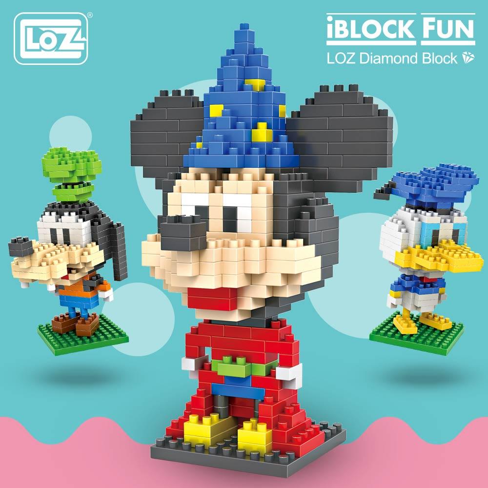 LOZ Blocks Pixels Cartoon Mouse Animals Micro Building Blocks Plastic Assembly Toys For Children Educational Diamond Bricks DIY