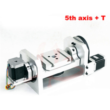 Center height 98MM CNC 5 axis A aixs Rotary with table for cnc router