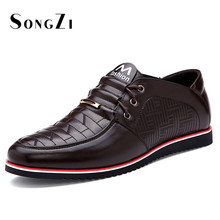 2016 New Mens Shoes Genuine Leather Checkered Oxford Office Shoes For Men High Quality Mens Dress Italian Leather Shoes Formal