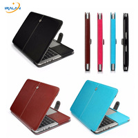 Best Selling Laptop Briefcase Smart 13 3 15 4 Case PU Leather Cover For Apple Macbook