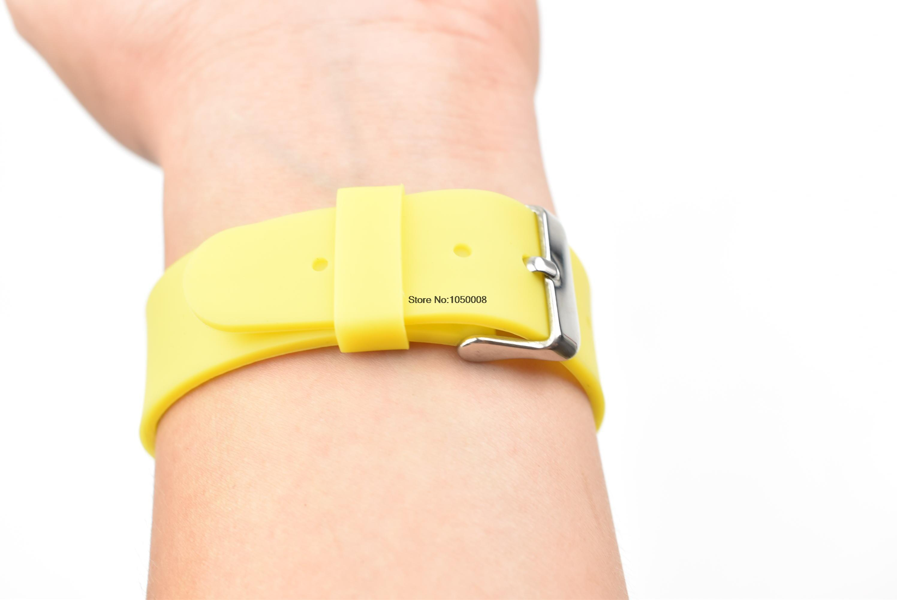 50pcs/lot 125Khz ID EM4100 RFID Smart wristband silicone electronic bracelets wrist band nfc 10pcs lot 13 56mhz rfid wristband silicone electronic bracelets wrist band nfc smart mf 1k s50