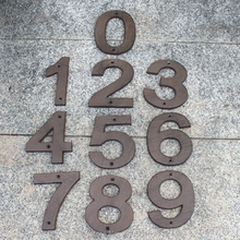 House Letters and Numbers big size Cast Iron Heavy Duty Metal Home Street Address Numbers Signs Antique Brown Finish